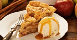 Sweet Apple Pie with Ice Cream