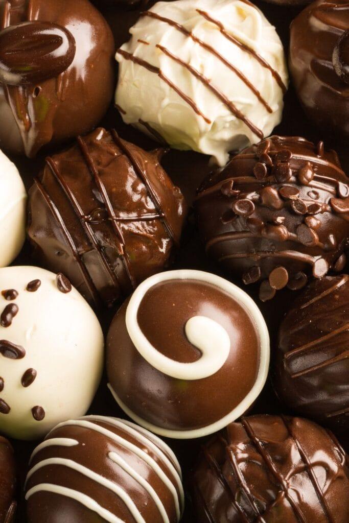 Sweet Chocolate Candy Truffles