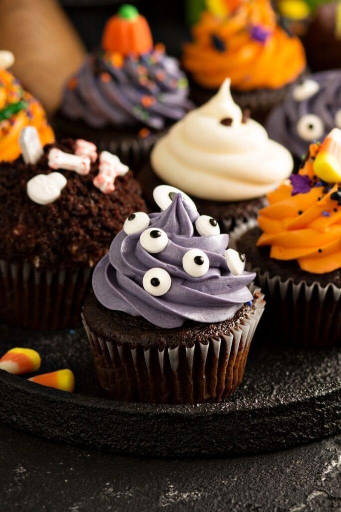 Sweet Halloween Monster Cupcakes