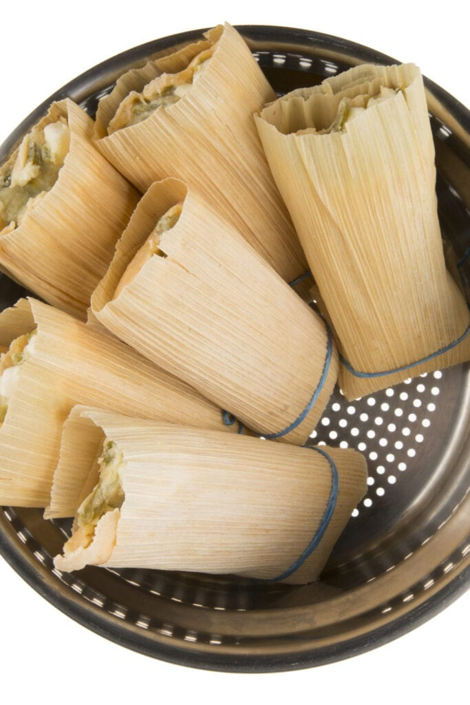 Tamales in a Steamer