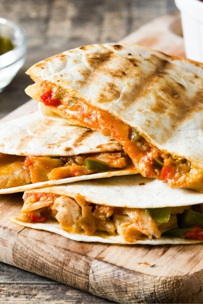 Cheesy and Appetizing Chicken Quesadillas