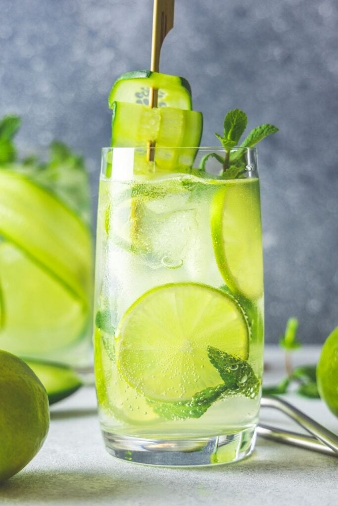 Cucumber Lime Mojitos with Mint