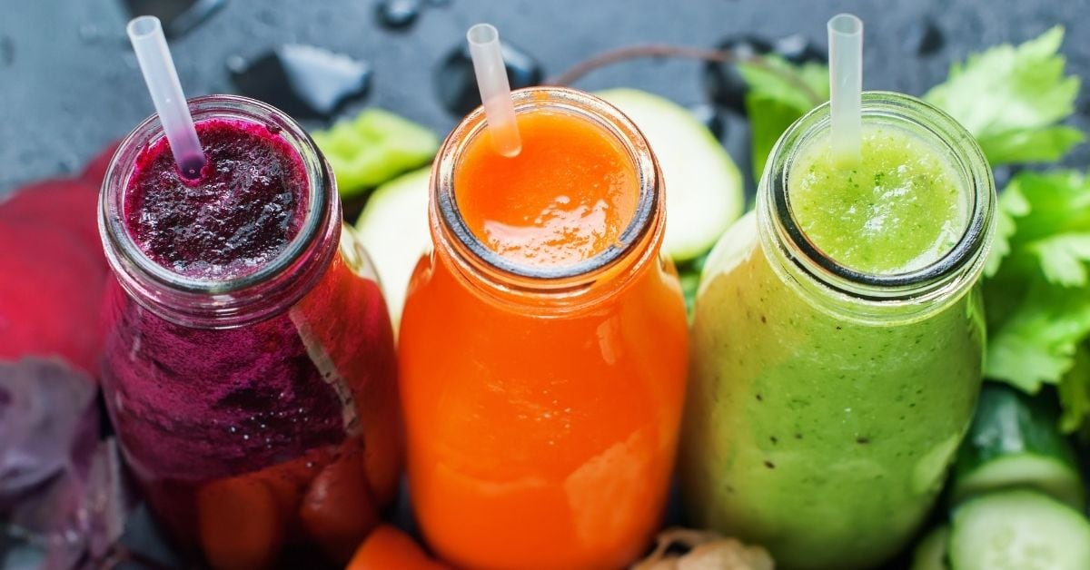 Cold Fresh Smoothies in Bottles
