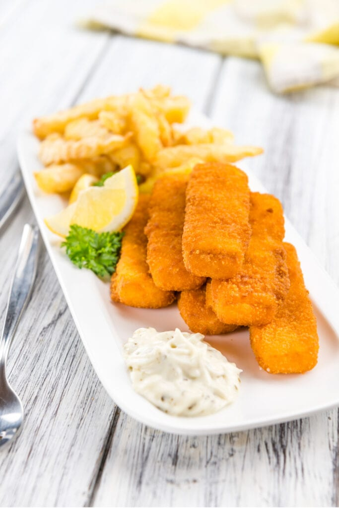 Fried Fish Fingers with Fries