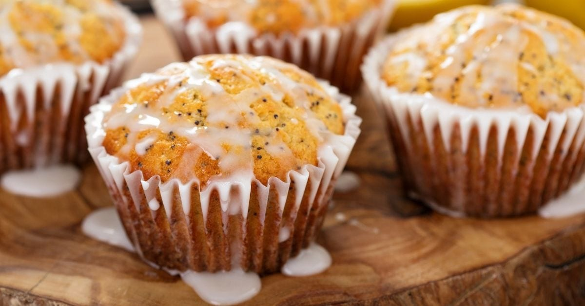 Homemade Lemon Poppy Seed Muffins with Glaze