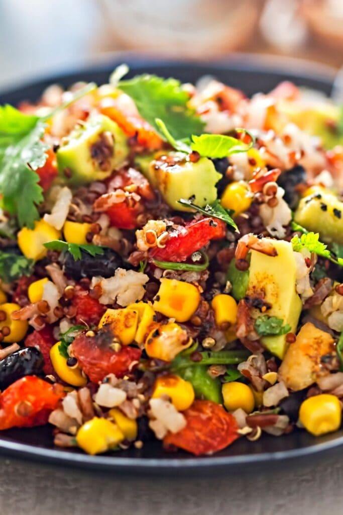 Mexican Corn Salad with Quinoa, Avocado and Black Beans