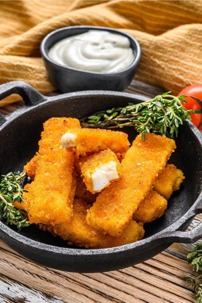 Oven Baked Crumb Fish Sticks with Dipping Sauce