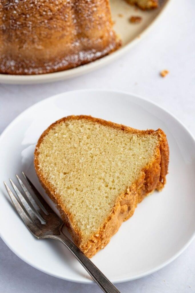 Slice of Homemade Pound Cake