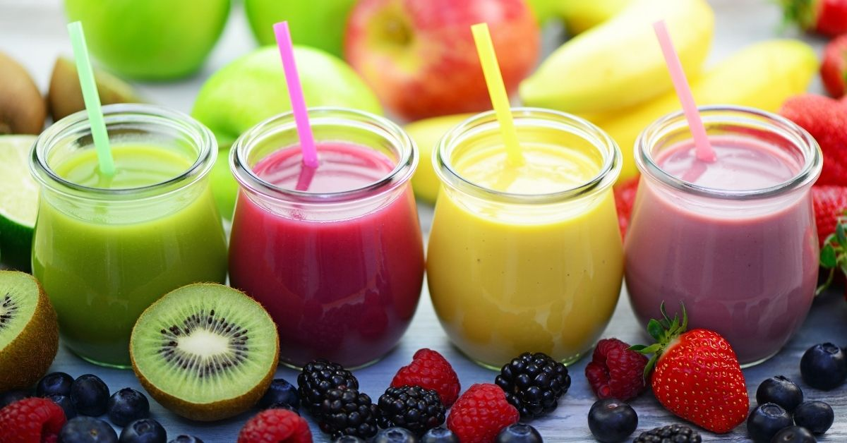 Smoothies with Fresh Fruits and Berries