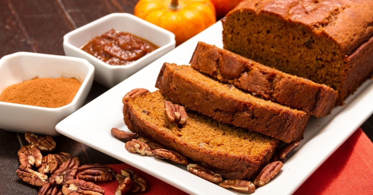 Soft and Moist Homemade Pumpkin Bread with Pecan Nuts