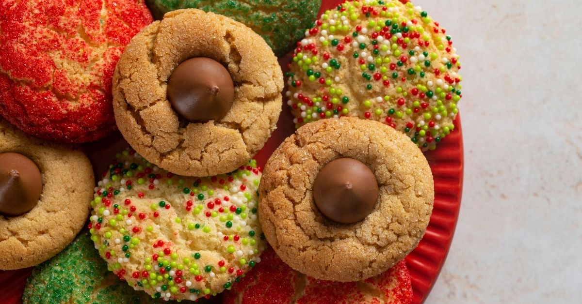 Sweet Peanut Butter Blossom, Red Velvet and Sprinkled Candy Cookies