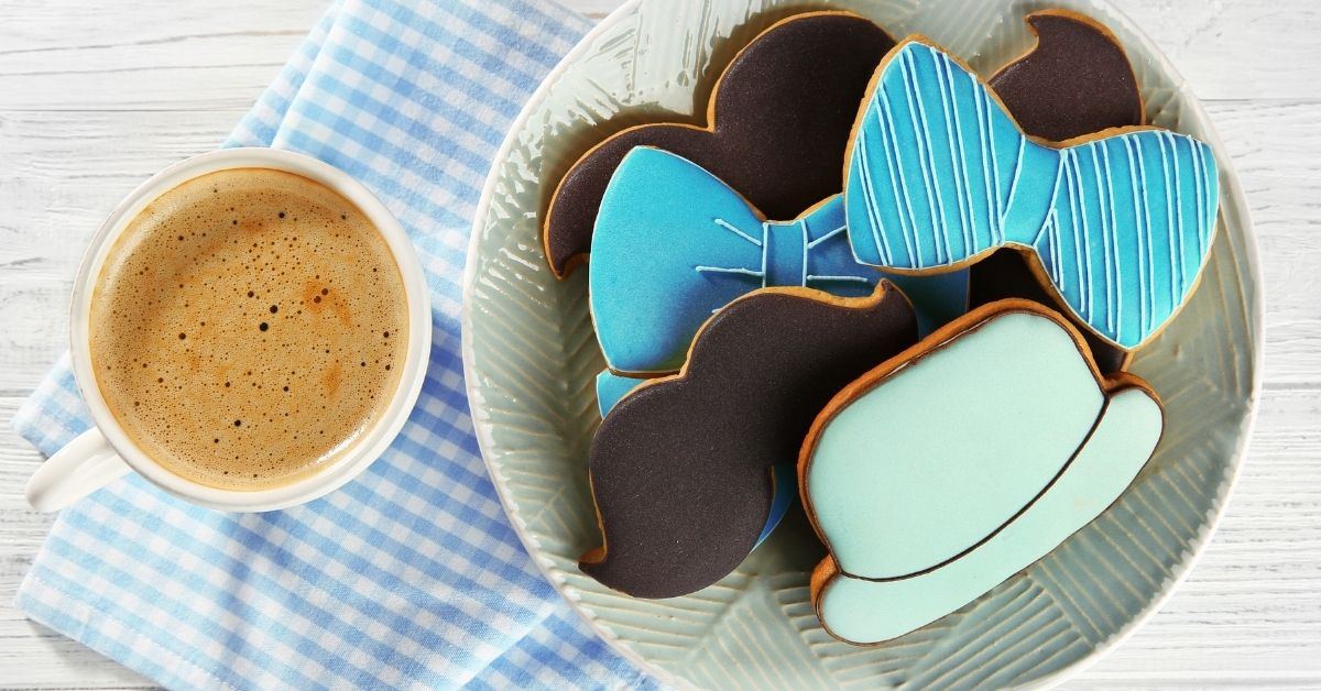 Tasty Decorated Cookies with a Cup of Coffee